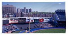 Yankee Stadium Ny Usa Beach Sheet by Panoramic Images