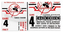Yankees 4th Straight - Modern Beach Towel by Benjamin Yeager