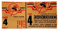 Yankees 4th Straight - Vintage Beach Towel by Benjamin Yeager