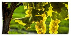 Yellow Grapes In Sunshine Beach Towel by Elena Elisseeva