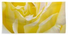 Yellow Rose Beach Towel by Svetlana Sewell