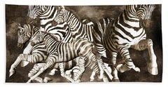 Zebras Beach Towel by Betsy Knapp