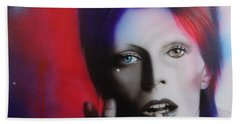 David Bowie - ' Ziggy Stardust ' Beach Sheet by Christian Chapman