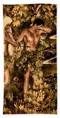 Birth Of Sin Beach Towel by Lourry Legarde