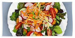 Garden Salad Beach Sheet by Elena Elisseeva