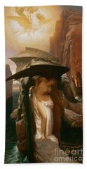 Perseus And Andromeda Beach Towel by Frederic Leighton
