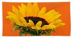 Sunflower Closeup Beach Towel by Elena Elisseeva