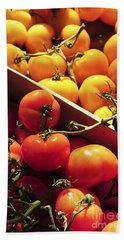 Tomatoes On The Market Beach Towel by Elena Elisseeva