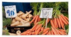 Carrots Beach Sheet by Tom Gowanlock
