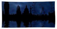 London Skyline Beach Towel by Michal Boubin