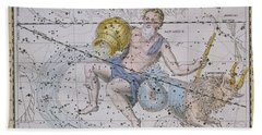 Aquarius And Capricorn Beach Towel by A Jamieson