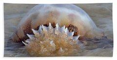 Cabbage Head Jellyfish  Beach Sheet by Betsy Knapp