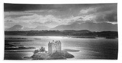 Castle Stalker Beach Towel by Simon Marsden