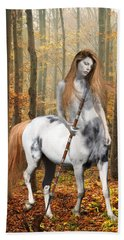 Centaur Series Autumn Walk Beach Towel by Nikki Marie Smith