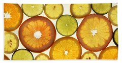 Citrus Slices Beach Towel by Photo Researchers