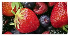 Fresh Berries Beach Towel by Elena Elisseeva