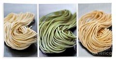 Fresh Tagliolini Pasta Beach Towel by Elena Elisseeva