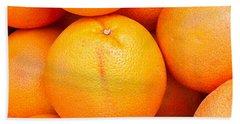 Grapefruit Beach Towel by Tom Gowanlock