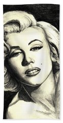 Marilyn Monroe Beach Sheet by Debbie DeWitt