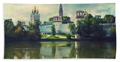 Novodevichy Convent. Moscow Russia Beach Towel by Juli Scalzi