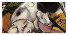 Pigs Beach Towel by Franz Marc