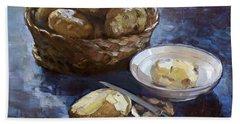 Potatoes Beach Towel by Ylli Haruni