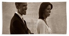 President Obama And First Lady S Beach Sheet by David Dehner
