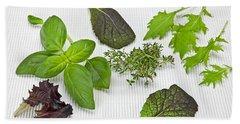 Salad Greens And Spices Beach Sheet by Joana Kruse