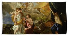 Selene And Endymion Beach Towel by Nicolas Poussin