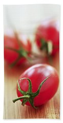 Small Tomatoes Beach Towel by Elena Elisseeva