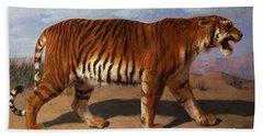 Stalking Tiger Beach Towel by Rosa Bonheur