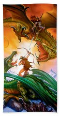 The Duel Beach Towel by The Dragon Chronicles