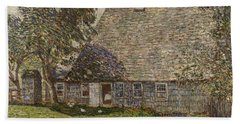 The Old Mulford House Beach Towel by Childe Hassam
