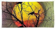 Three Blackbirds Beach Towel by Bill Cannon