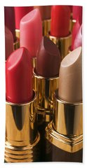 Tubes Of Lipstick Beach Towel by Garry Gay
