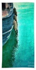 Vintage Ship Beach Sheet by Jill Battaglia