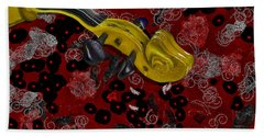 Violinelle - V02-12a Beach Towel by Variance Collections