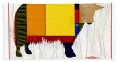 Y Is For Yak Beach Towel by Elaine Plesser