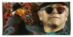 Elton John Beach Towel by Sergey Lukashin