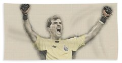 Iker Casillas  Beach Towel by Don Kuing