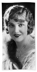 Actress Agnes Ayres Beach Towel by Underwood Archives