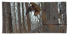 American Woodcock Behavior Beach Towel by Asbed Iskedjian