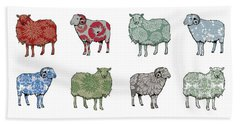 Baa Humbug Beach Sheet by Sarah Hough