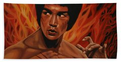 Bruce Lee Enter The Dragon Beach Towel by Paul Meijering