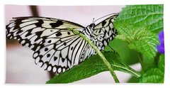 Paper Kite Butterfly No. 1 Beach Towel by Sandy Taylor
