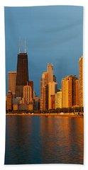 Chicago Skyline Beach Towel by Sebastian Musial