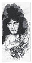 Eddie Van Halen Beach Sheet by Gary Bodnar