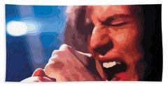 Eddie Vedder Beach Towel by Gordon Dean II