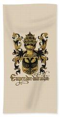 Emperor Of Germany Coat Of Arms - Livro Do Armeiro-mor Beach Towel by Serge Averbukh