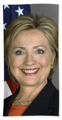 Hillary Clinton Beach Towel by War Is Hell Store
